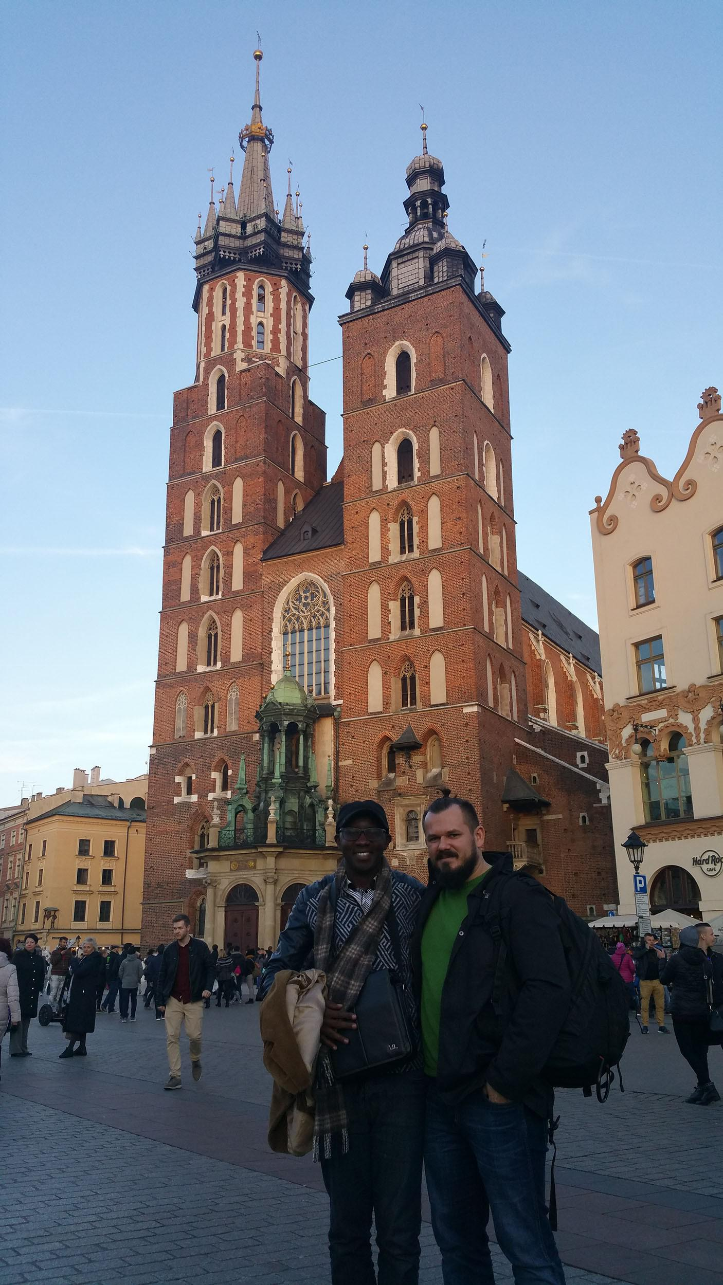 Aimable Mpayimana (Rwandan Federation Secretary) and Mateusz Prendota( President of the Polish Federation ) in Krakow, Poland 2018
